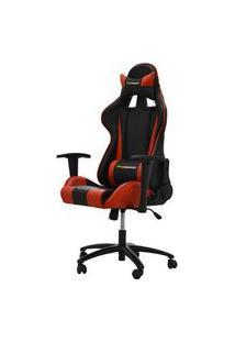 Cadeira Office Pro Gamer V2 Em Pu Preta E Vermelha - 27709 Preto E Vermelho