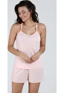 Pijama Feminino Short Doll Renda Alças Finas Maris