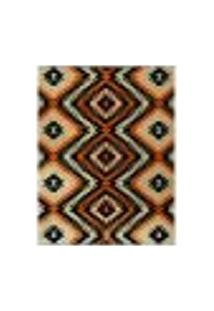Tapete Marbella Monthelon Retangular (100X150Cm) Caramelo E Creme