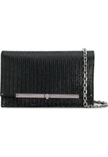Casadei Foldover Top Crossbody Bag - Preto