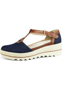 Sandália R.Artigos Miuzzi Retro Jeans Azul Marinho - Tricae