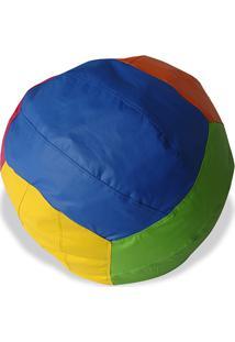 Puff Infantil Big Ball Vôlei De Praia Courino Colorido - Stay Puff