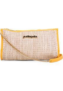 Bolsa Petite Jolie Mini Bag Jane Palha Feminina - Feminino-Amarelo