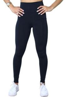 Kit 2 Leggings Plus Size Heide Ribeiro Leg Basic Suplex Barato Preto E Cinza - Feminino