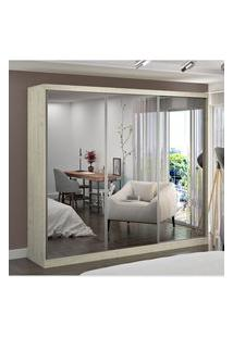Guarda Roupa Casal 3 Portas C/ 3 Espelhos Marfim Areia M Foscarini Off-White