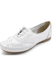 Sapatilha Danflex Oxford Branco - Branco - Feminino - Dafiti