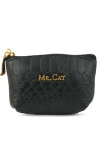 Porta Niquel Mr. Cat - Feminino-Preto