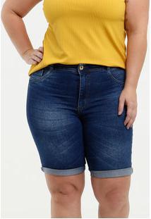 Bermuda Feminina Jeans Stretch Plus Size Biotipo