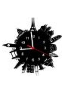 Relógio De Parede Decorativo - Modelo Mundo World