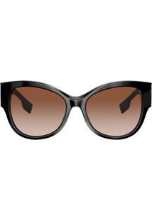 Burberry Eyewear Óculos De Sol Oversized - Preto