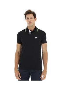 Camisa Polo Ecko Piquet Fashion Bs - Masculina - Preto