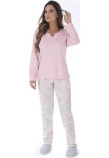 Conjunto Pijama Victory De Inverno Madam Feminino - Feminino-Rosa