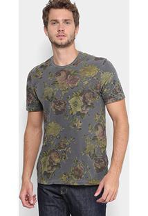 Camiseta Replay Floral Masculina - Masculino