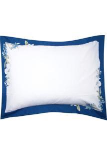 Fronha Avulsa Kacyumara Vida Bela Lazuli 50X70Cm Azul