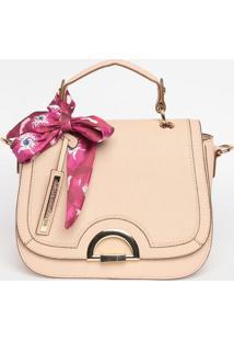 Bolsa Com Bolso & Bag Charm- Bege- 20X24X12Cmloucos E Santos