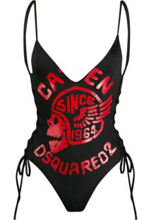 Dsquared2 Logo Print Swimsuit - 010 Black