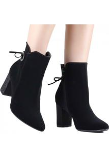 Bota Ankle Boot Via Marte Cano Curto 19-3202