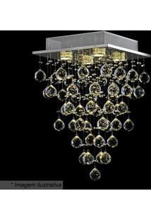 Plafon Tyrell- Cristal & Prateado- 50X32X32Cm- Bhevvy