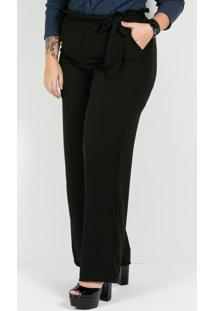 Calça Pantalona Plus Size Preta