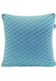 Enfeite Almofada Batistela Baby Tricot Azul T002