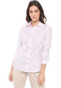 Camisa Dudalina Estampada Rosa