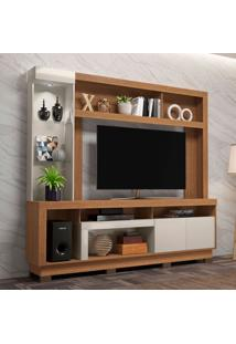 Estante Para Home Theater E Tv Até 55 Polegadas Iguatemi Marrom E Off White