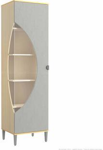 Cristaleira Com Vidro 1 Porta Pop Pine/Cinza - Kappesberg