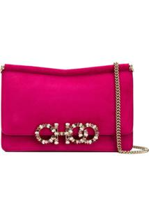 Jimmy Choo Sidney Crossbody Bag - Rosa