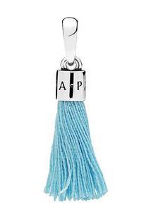 Charm Pendente Tassel- Prata & Azul Claro- Pandorapandora