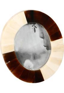 Porta-Retrato Decorativo De Chifre Oval Dabah