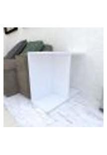 Mesa Lateral 25X60X50 Cm Mdf Branco Tx Modelo En16701Ml