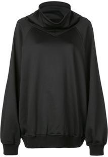 Givenchy Blusa De Moletom Oversized - Preto