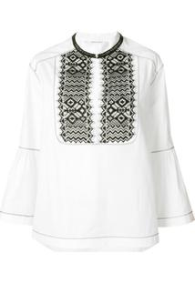 Alberta Ferretti Embroidered Blouse - Branco