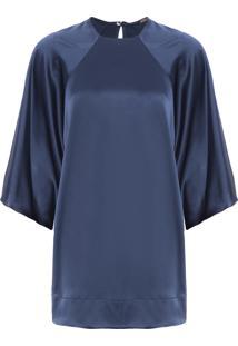 Blusa Feminina Any Cetim - Azul