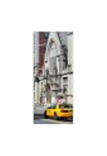 Adesivo Decorativo De Porta - Táxi - Nova Iorque - 763Cnpt Auto Colante
