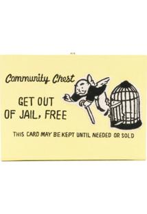 Olympia Le-Tan Clutch 'Get Out Of Jail, Free' - Amarelo