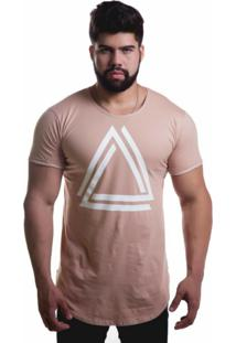 Camiseta Advance Casual Triangle Caqui
