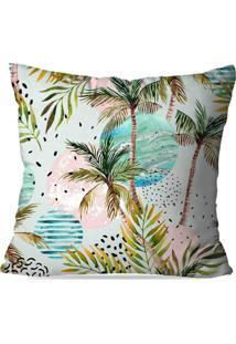 Capa De Almofada Avulsa Decorativa Palm Trees 45X45Cm