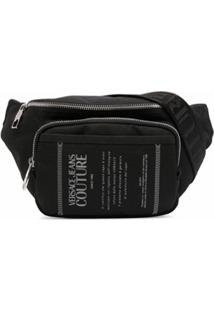 Versace Jeans Couture Pochete Etichetta Com Estampa Gráfica - Preto