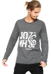 Suéter Tricot John John Joey Cinza