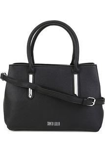 Bolsa Santa Lolla Handbag Risco Feminina - Feminino-Preto