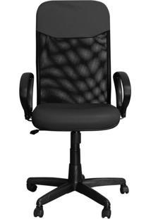 Cadeira Pethiflex Pp-04Gtbp Giratória Couro Preto