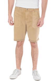 Bermuda Sarja Calvin Klein Jeans Chino Color Bege