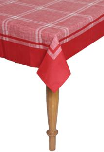 Toalha De Mesa Karsten Sempre Limpa Atlanta Quadrada Vermelha