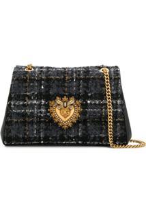 Dolce & Gabbana Bolsa Tiracolo Devotion Média - Preto