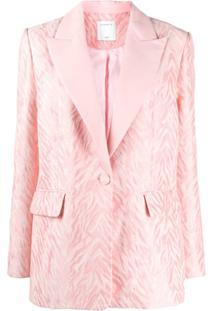 Sandro Paris Single Breasted Jacket - Rosa