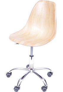 Cadeira Eames Dkr- Madeira Clara & Prateada- 93X47X4Or Design
