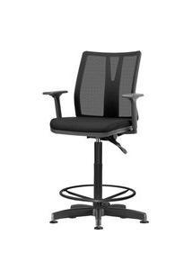 Cadeira Addit Assento Courissimo Preto Base Caixa Metalica Com Capa - 54200 Preto