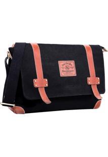 Bolsa Carteiro Em Lona Laptop 15.6 Florence 0127 Preto