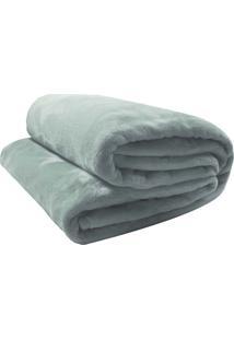 Cobertor Camesa Velour De Microfibra Neo 300G Queen Cinza